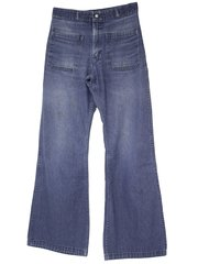 US Navy USED CUSTOM SIZE 1970-80s Era Denim MEN'S jeans Bell bottoms/dungarees, made by Seafarer