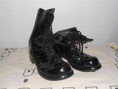 Vintage Cold War Black Jump Boots size 8.5R