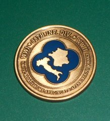 "Military Challenge coin #4 88TH INF DIV. ""BLUE DEVILS"""
