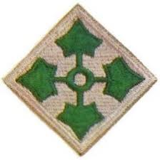 4th Infantry Division Patch from WW2
