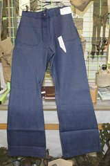 70s Era Denim WOMEN'S  jeans Bell bottoms/dungarees, made by Seafarer