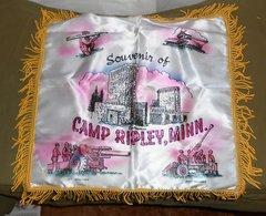 1940's-1950's Camp Ripley, Minn Sweetheart pillow cover