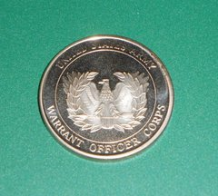 Military Challenge coin #9 Warrant Officer Corps CW5