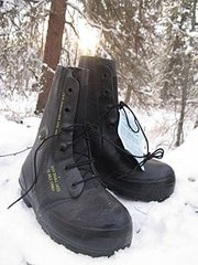"""Black Excw """"mickey mouse"""" Boots with valve"""