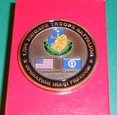 Military Challenge coin #2 1st BTB, 34th ID CSM Coin