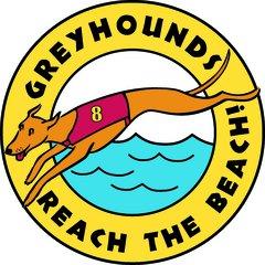 Classic Greyhounds Reach the Beach Car Magnet