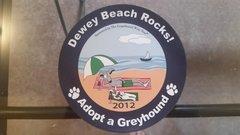 2012 Dewey Beach Rocks Car Magnet