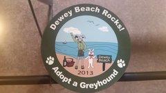 2013 Dewey Beach Rocks Car Magnet