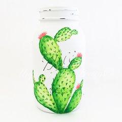 Watercolor cactus Mason Jar©