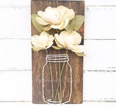 Magnolia Mason Jar String Art©
