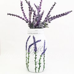 Watercolor Lavender Mason Jar©