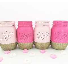 **Limited Edition**Valentine's Day Blush & Pink Mason Jar Set©