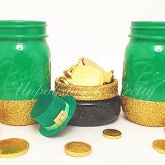 **Limited Edition**Pot Of Gold Mason Jar Trio©