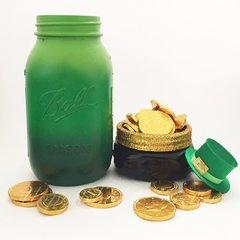 St. Patrick's Day Ombre Mason Jar©