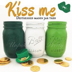 **Limited Edition**Kiss Me Mason Jar Trio©