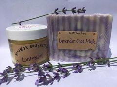 Beeswax Body Butter Stick or 2oz Jar (Lavender) & Lavender Soap Bundle
