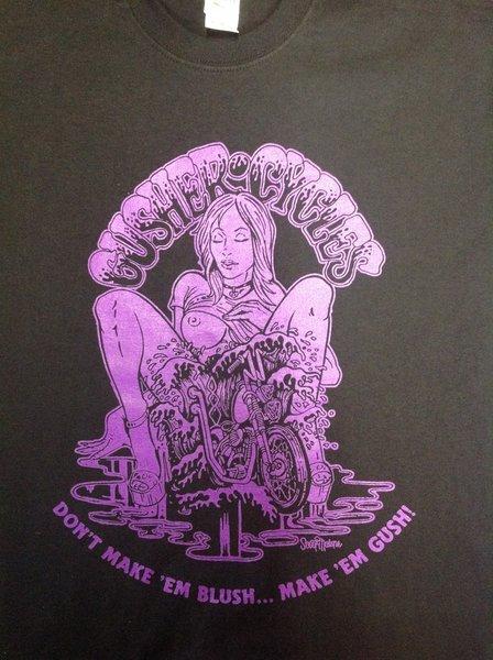 """Purple/Black """"make 'em gush"""" T-Shirt"""