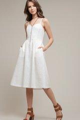 Moon River Ballerina Linen Dress
