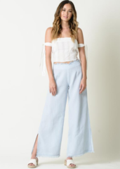 Lucca Melissa Fringed Wide Leg Pant