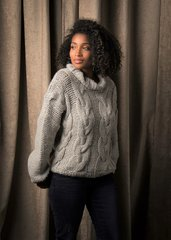 Moon River Cable Knit Turtleneck