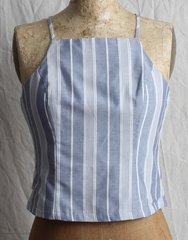 Doe and Rae Striped Cropped Top
