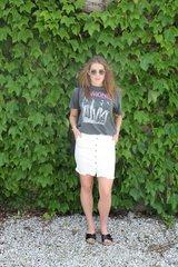 J.O.A. Slim Fit Denim Skirt