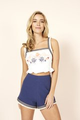 Minkpink Lost and Found Crop Top