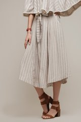 Moon River Button Front Skirt