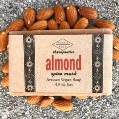 Almond Artisan Vegan Soap   4.8 oz bar