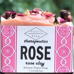 Rose Artisan Vegan Soap   7 oz bar