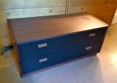 Mid-Century modern low dresser black-and-wood