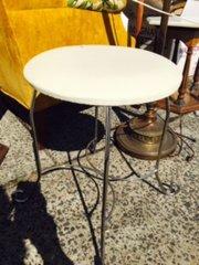 petite vintage chrome vanity stool