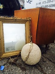 antique shabby-chic gold mirror