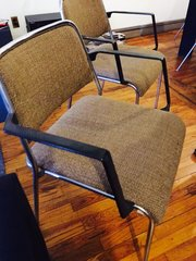 amazing vintage arm chairs -- stunning - great upholstery $125 each