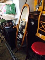 free standing antique adjustable mirror