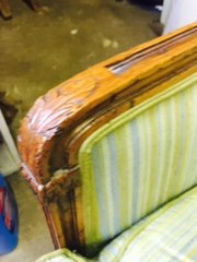 beautifully crafted antique arm chair upholstery in great condiditon