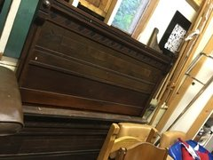 stunning (no really, stunning) antique mahogany headboard, footboard and siderails (Full)