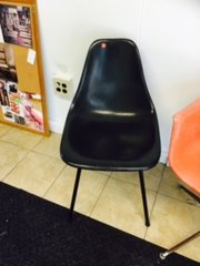 "black vintage ""eames"" shell chair"