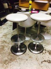 super cool set of 2 vintage chrome bar stools