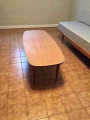 stunning solid natural cherry mid-century modern coffee table