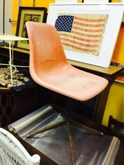 vintage mid-century modern vintage shell chair
