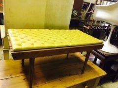 authentic mid-century mod vintage bench