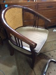 awesome, great condition asian wood caned chair