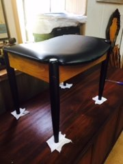 vintage midcentury bench stool black legs great condition