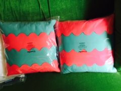 pink and blue throw pillow nwp - 3 available