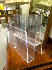 Super cool Lucite magazine rack