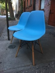 fresh from a broadway stage - set of two eames repro eiffel tower chairs