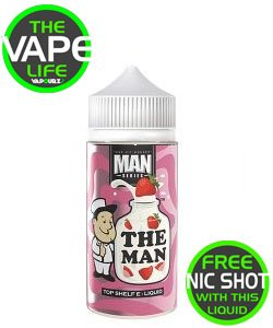 One Hit Wonder The Man Strawberries And Cream 100ml + 2 free nic shots