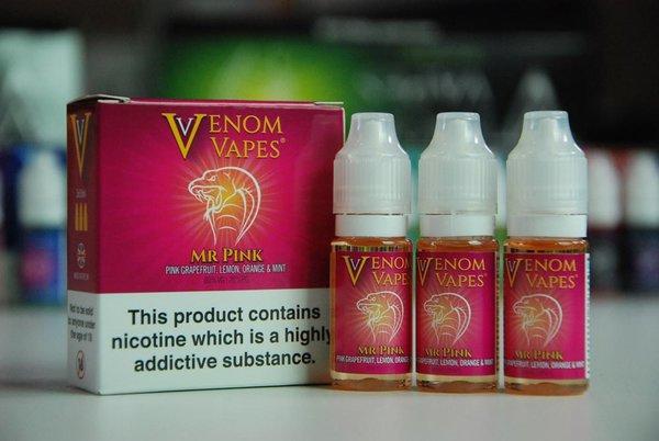 Mr Pink Venom Vapes 3 x 10ml 80/20 E-Liquid