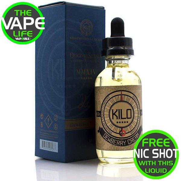 Kilo Original Series Dewberry Cream + Free Nic Shot